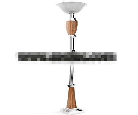 European style tray floor lamp 3D Model