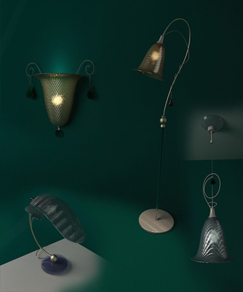European-style Wall Lamps 3D Mode