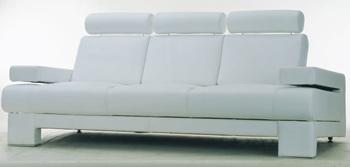 European style white simple sofa 3D Model