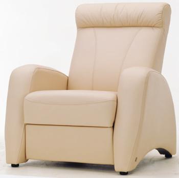 European-style white single sofa 3D Model