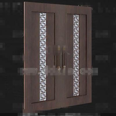 European-style wooden door 3D Model
