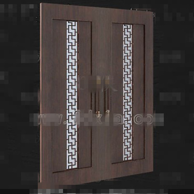 European-style wooden door 3D Model