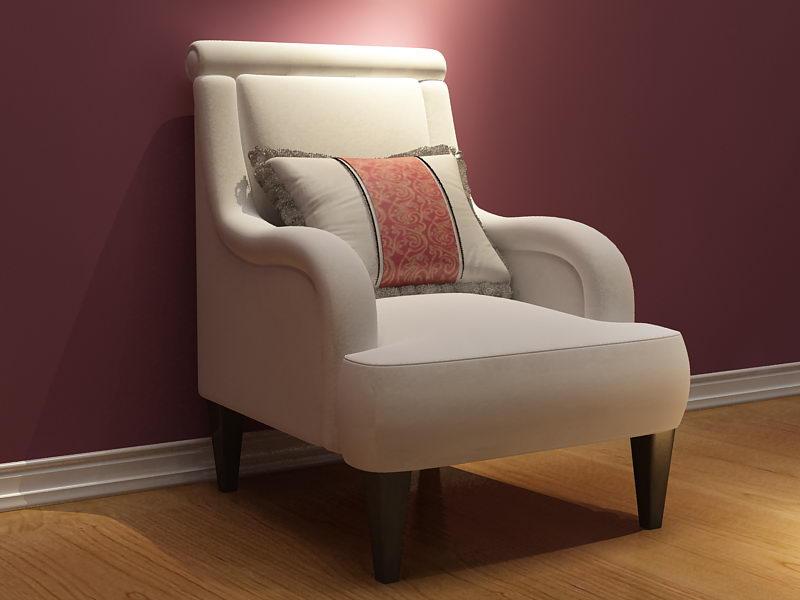 European super-soft fabric sofa 3D model (including materials)