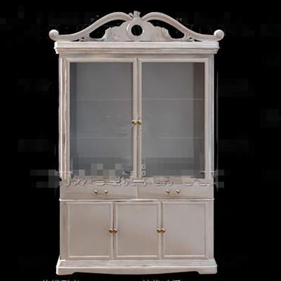 European white simple wine cabinet 3D Model