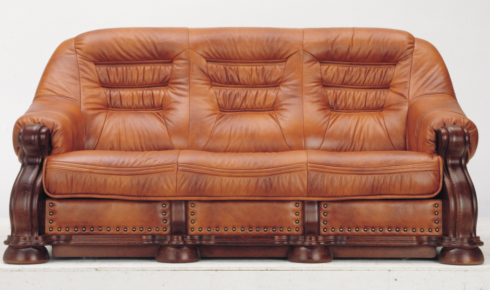 European wood bottom carved cowhide people sofa 3D models (including material)