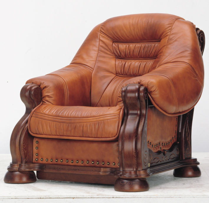 European wood bottom carved leather sofas, 3D models (including material)