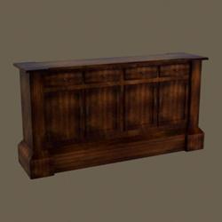 European wood retro counter 3D models