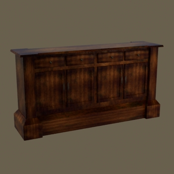 European wood retro counter 3D models