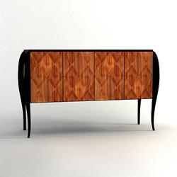 European wood table restoring ancient ways 3D models