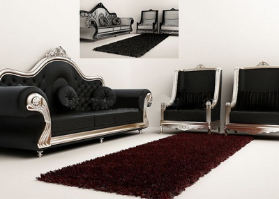 Exquisite combination model sofa 3D Model
