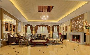 Exquisite golden luxury living room 3D Model