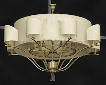 Exquisite light yellow pendant lamp 3D Model