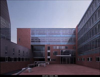 Exterior Design Model: Bussiness Building Terrace 3D Model