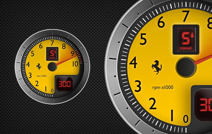 F430 Tachometer PSD