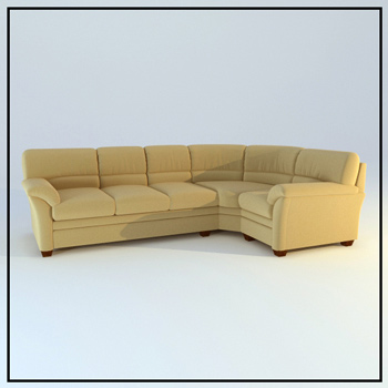 Fabric corner sofa 3D Model