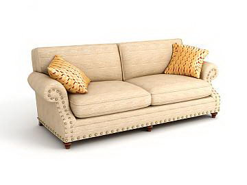 Fabric Sofa 3D model of simple European-style (including materials)