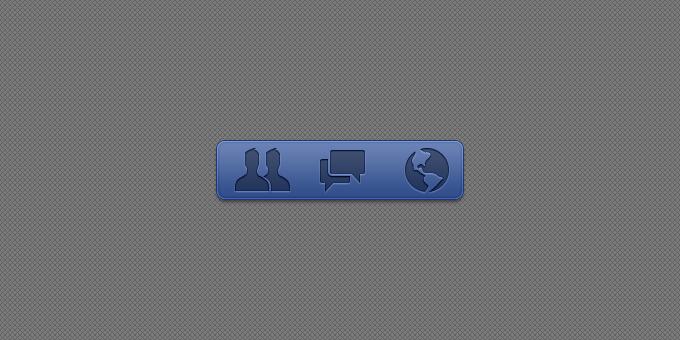 Facebook Glyphs PSD