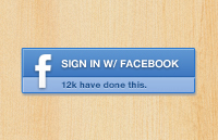 Facebook Signin Button PSD