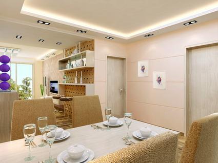 Family restaurant VR model (with materials, lighting 3D Model