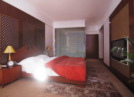 Fancy Wooden Bedroom 3D model (including materials)
