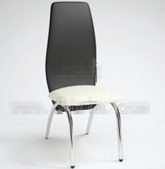 Fashion black and white Office Chair 3D Model