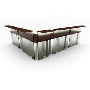 Fashion boutique desk combination6-5 3D Model