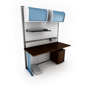 Fashion boutique desk combination8-6 3D Model