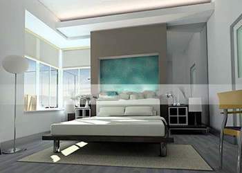 Fashion bright and simple bedroom 3D Model