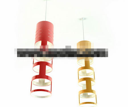 Fashion cylindrical ceiling lamp 3D Model