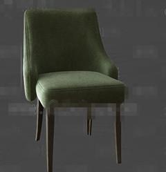 Fashion dark green fabric chairs 3D Model