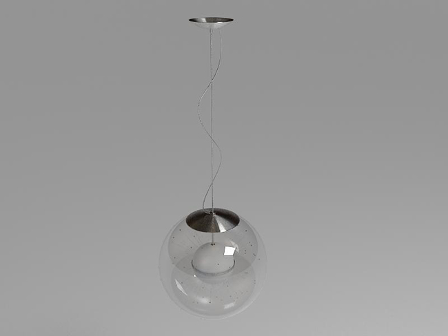 Fashion glass chandelier 3D models (including material)