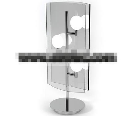 Fashion glass mirror table lamp 3D Model