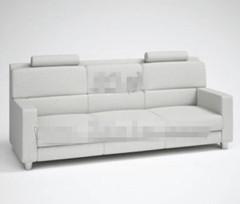 Fashion light gray three seats fabric sofa 3D Model