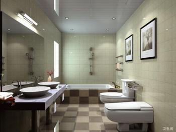 Fashion model simple bathroom 3D Model