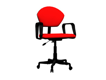 Fashion red swivel chair 3D Model