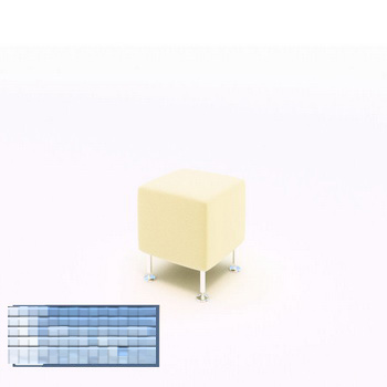 Fashion Simple sofa stool 3D Model