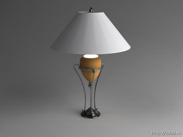 Fashion simple type cabinet desk lamp 3D models