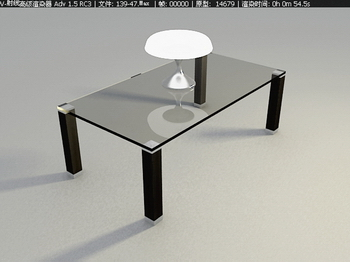 Fashion taste fine furniture, glass coffee table 3D Model