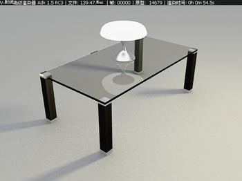 Fashion taste fine furniture, glass coffee table 3D Model