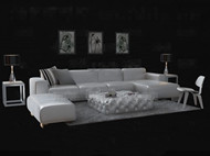 Fashion white leather sofa combination 3D Model