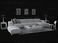 Fashion white leather sofa combination 3D Model
