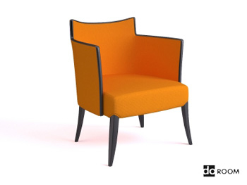 Fashion yellow armchair 3D Model