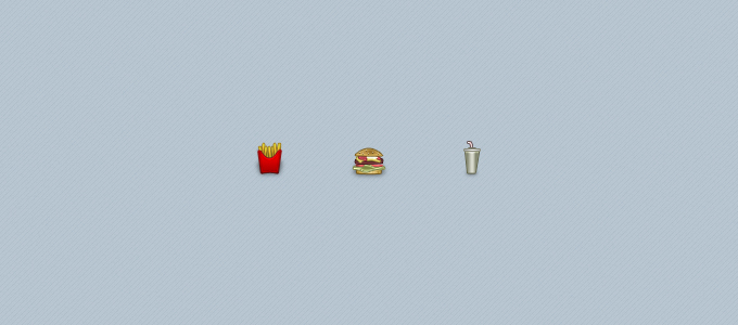 Fast Food Icons PSD