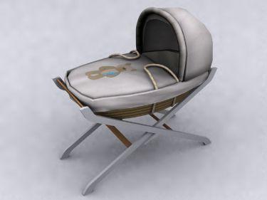 Fixed pattern of the original eco-cartoon Baby Crib 3D Model