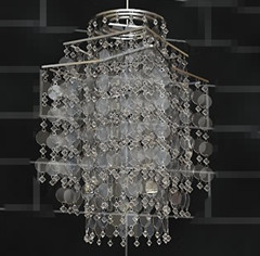 Flake bead curtain chandelier 3D Model