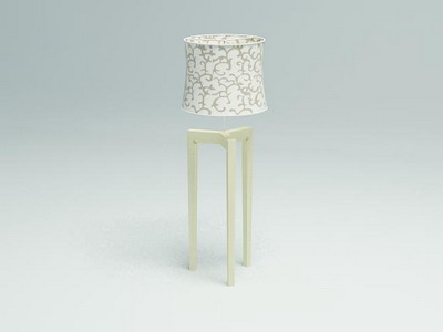Floor Lamp Model�� Simple Style Wooden Floor Lamp 3D Model