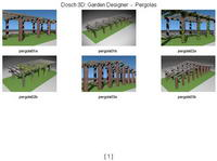 flower racks in the park / leisure corridors 3D Model
