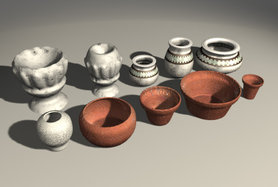 Flowerpots /Flower Bowls  2 3D Model