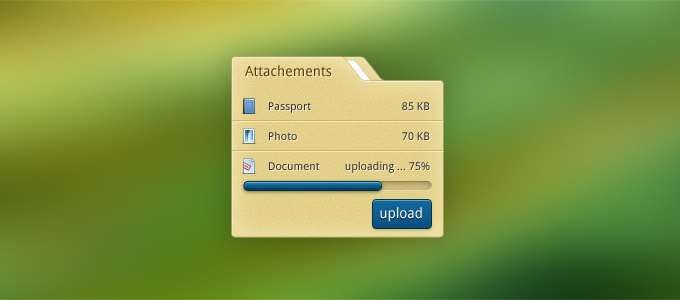Folder Attachment PSD