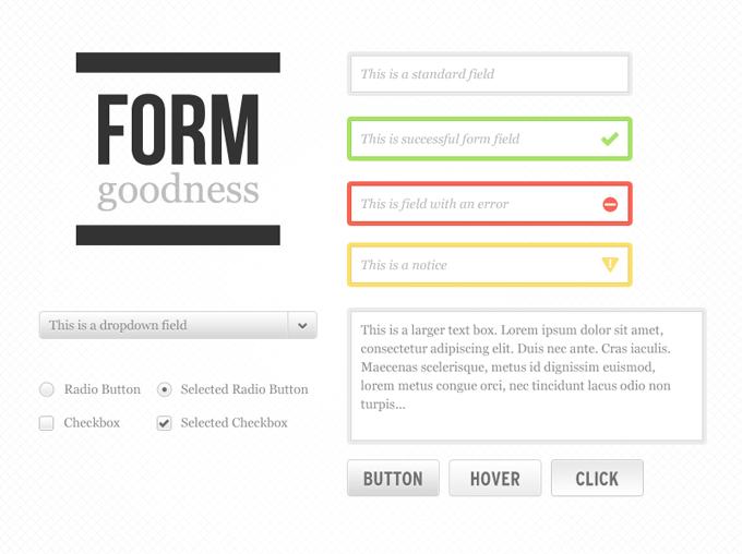 Form Goodness Kit PSD